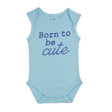 Fun2Wear Fun2Wear Romper Born To Be Cute Blauw