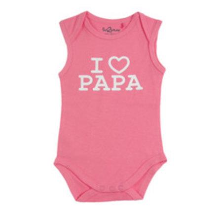 Fun2Wear Fun2Wear Romper Love Papa Pink