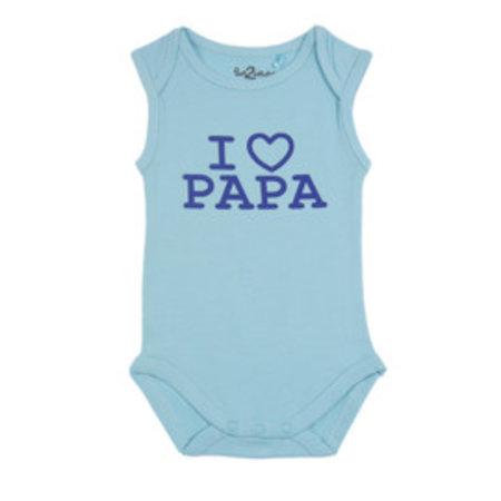 Fun2Wear Fun2Wear Romper Love Papa Blue