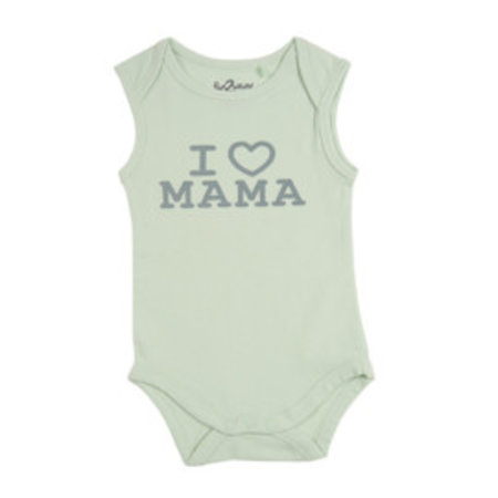 Fun2Wear Fun2Wear Romper Love Mama Green