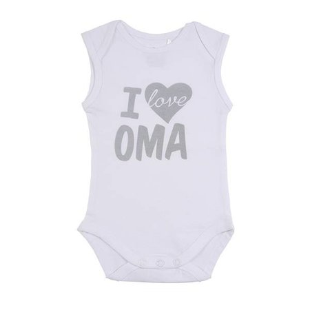 Fun2Wear Fun2Wear Romper Love Oma White