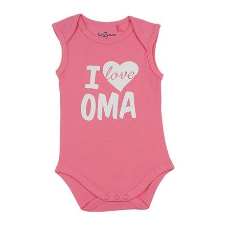 Fun2Wear Fun2Wear Romper Love Oma Rose