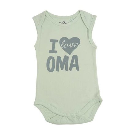 Fun2Wear Fun2Wear Romper Love Oma Green