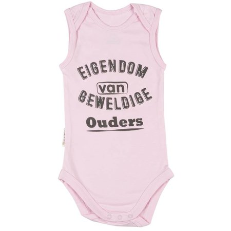 Frogs and Dogs Frogs and Dogs Romper Eigendom Pink