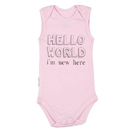 Frogs and Dogs Frogs and Dogs Romper Hello World Rose