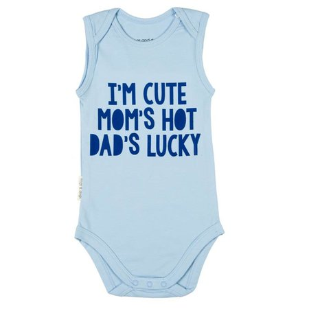 Frogs and Dogs Frogs and Dogs Romper I'M Cute Blauw