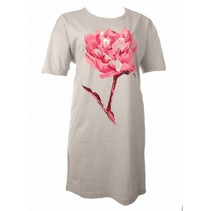 Bigshirt Flower Grijs