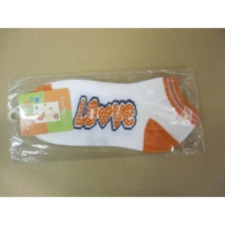 Dames Sneaker Sokken Love oranje