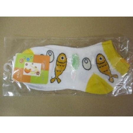 Dames Sneaker Sokken Vissen geel