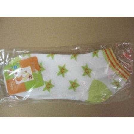 Dames Sneaker Sokken Star wit mint