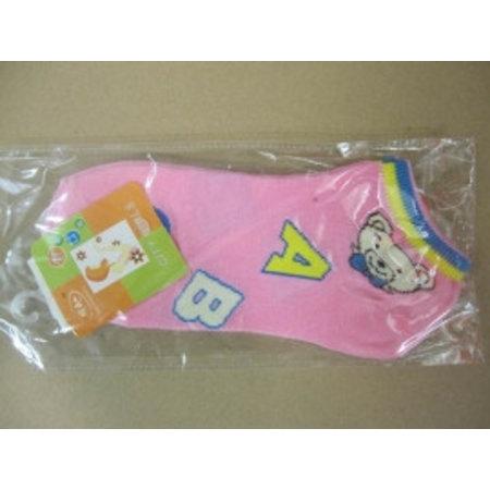 Dames Sneaker Sokken Abc Roze