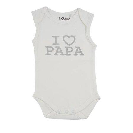 Fun2Wear Fun2Wear Romper Love Papa Off White
