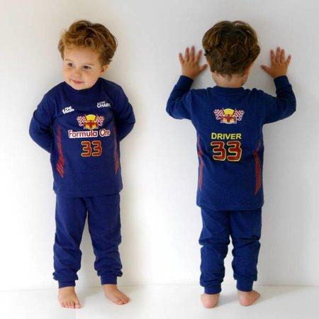 Fun2Wear Fun2Wear Formule 1 pyjama blauw