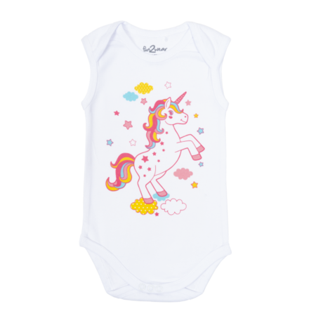 Fun2Wear Fun2Wear Unicorn romper wit