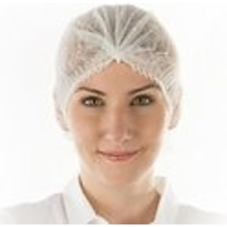 Hygonorm Haarnetje wegwerp clip cap wit per 100 stuks - haarnetjes