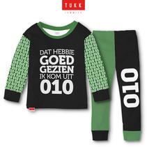 Tukk jammies Rotterdam groen/zwart