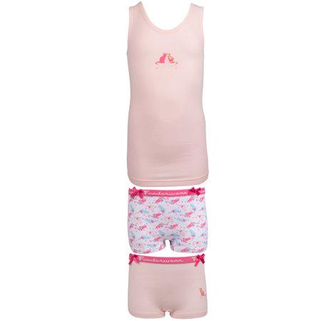 Funderwear funderwear Raibow cat meiden ondergoed Pink