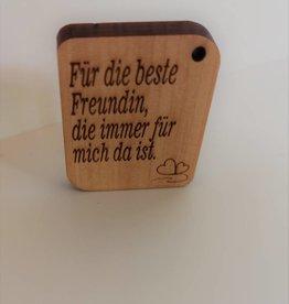 """Schlüsselanhänger """"Beste Freundin"""" mit Gravur"""