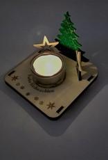 Mit den farbiten Motiven noch eleganter! Der Teelichthalter sorgt für weihnachtliche Stimmung und eignet sich optimal als Geschenk- oder Dekoidee!