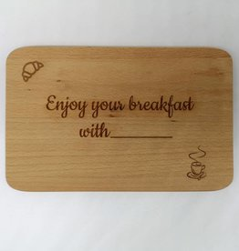 """Frühstücksbrett """"Breakfast"""" mit Gravur"""