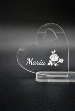 Deko Herz aus Acrylglas mit Gravur kannst du nach deinen Wünschen gestalten!