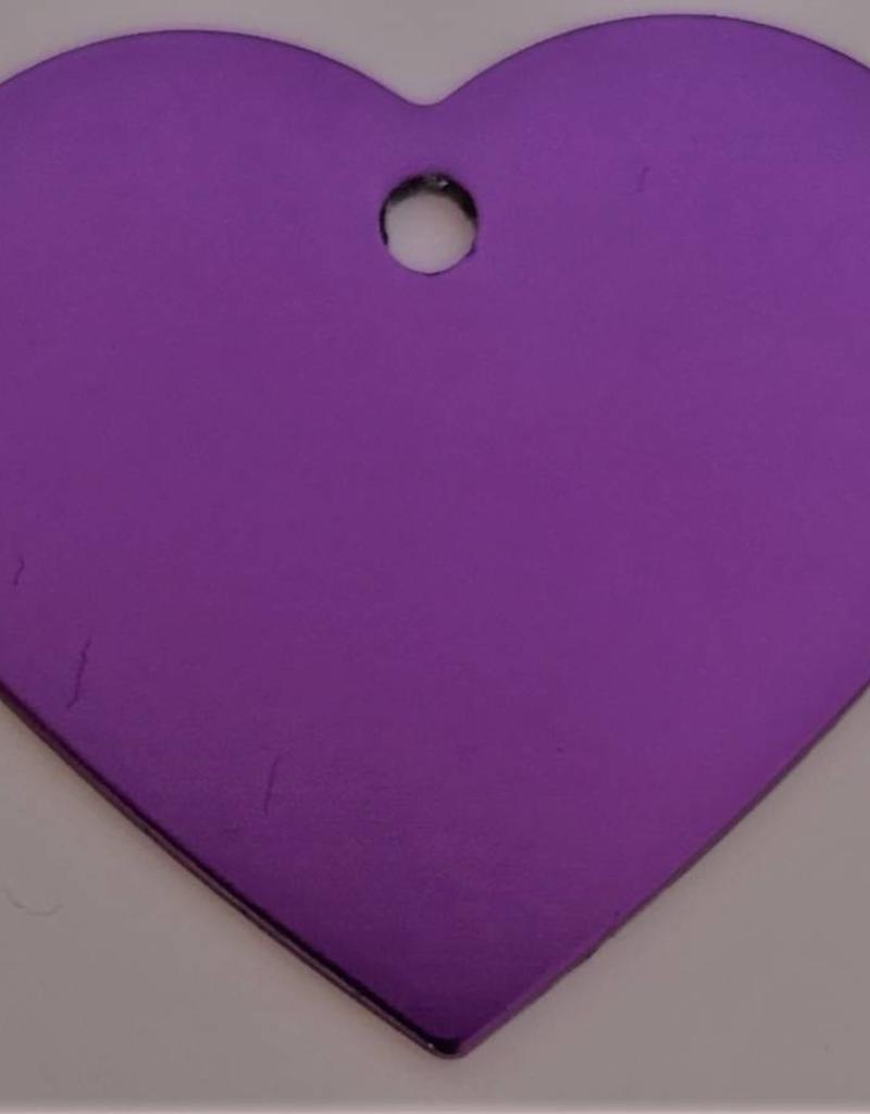 Pferdemarke aus Aluminium in der Farbe Violett mit Gravur Honigkuchenpferd
