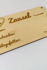 Boxenschilder mit Wunschdesign erstellen aus echtem Ahorn MDF Holz