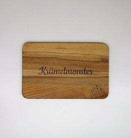 "Frühstücksbrett mit Gravur ""Krümelmonster"""