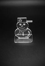 Der Schneemann als dekorativer Aufsteller für Weihnachten mit Gravur