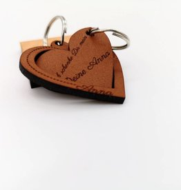 "Key ring ""Proof of love"" made of leather"