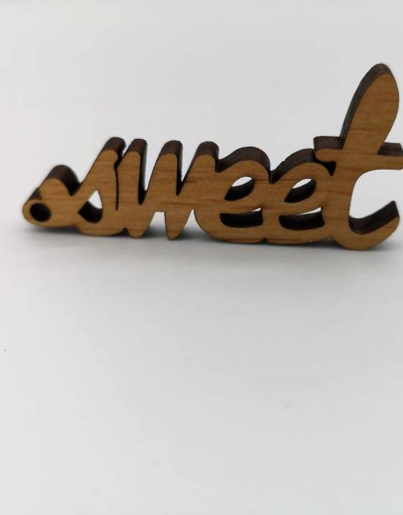 """""""sweeter"""" Keychain made of real wood!"""