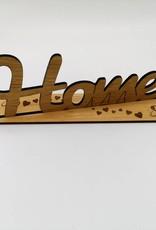 """Die moderne Schriftzugdekoration """"Home"""" aus echtem Eiche Holz"""