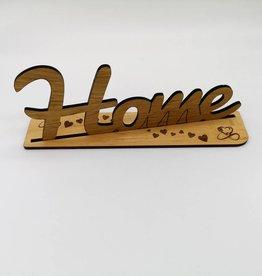"Schriftzugdekoration ""Home"" aus Holz"