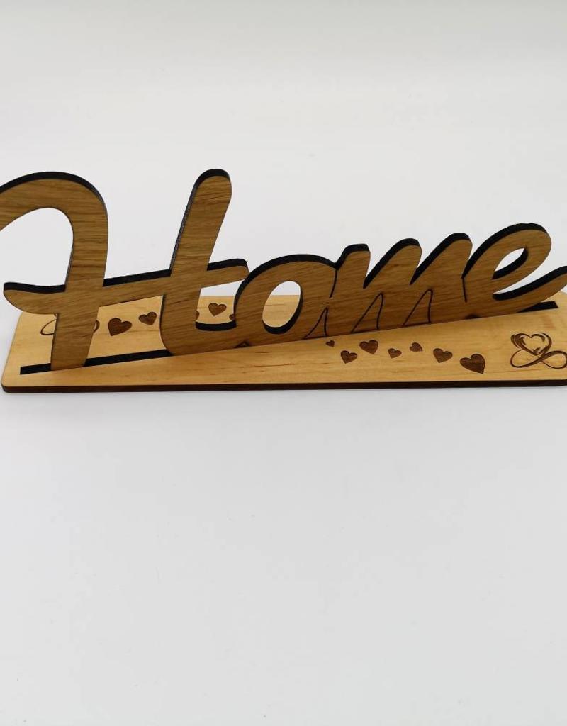 Zuhause ist es doch am schönsten! Nur noch schöner mit dem Dekoschriftzug aus echtem Eiche Holz!