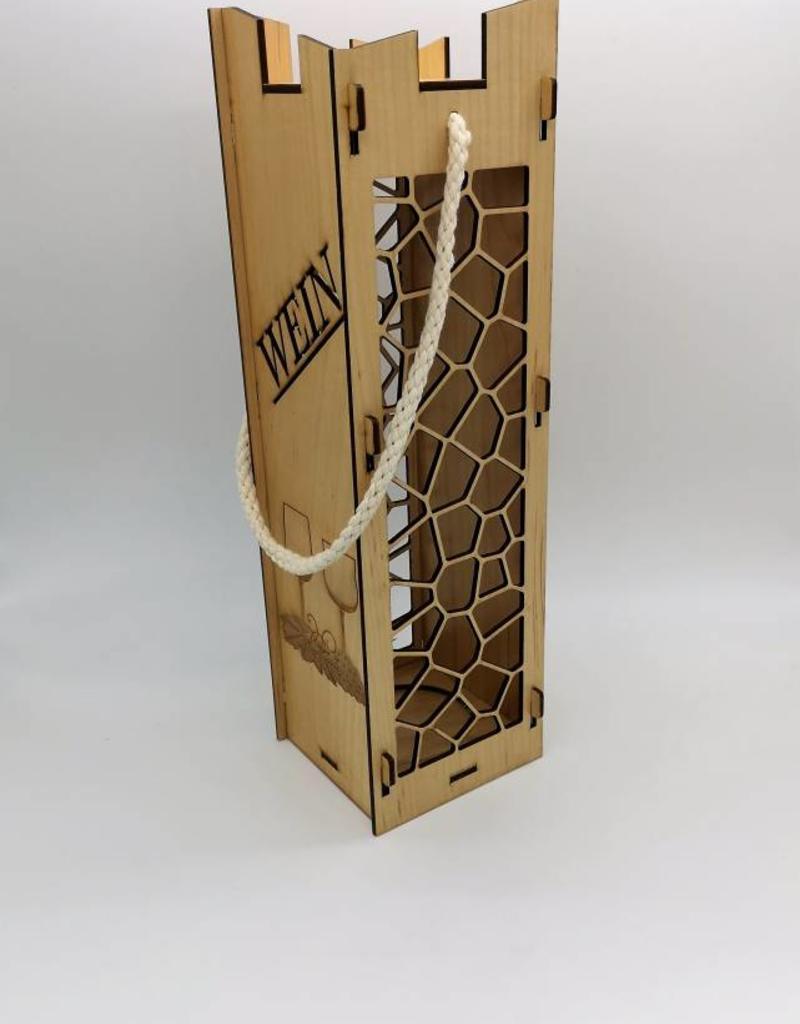 Weinbox aus Holz Ahorn Holz im edlen Design mit Gravur nach Wunsch!