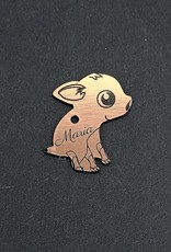 Lucky pig keychain with engraved wish