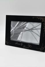 Bilderrahmen aus Holz schwarz mit Wunschgravur