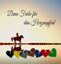 """Pferdemarke """"Herz"""" mit Wunschgravur"""