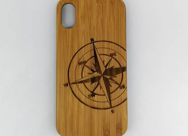 Mobile phone cases made of wood