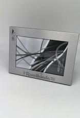 Bilderrahmen Aluminium silber mit Wunschgravur gestalten