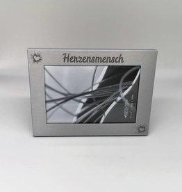 Bilderrahmen Aluminium silber mit Wunsch Gravur