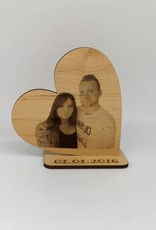 Deco heart made of alder wood with your photo as engraving!