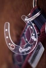 The horseshoe pendant made of acrylic glass with rhinestones!