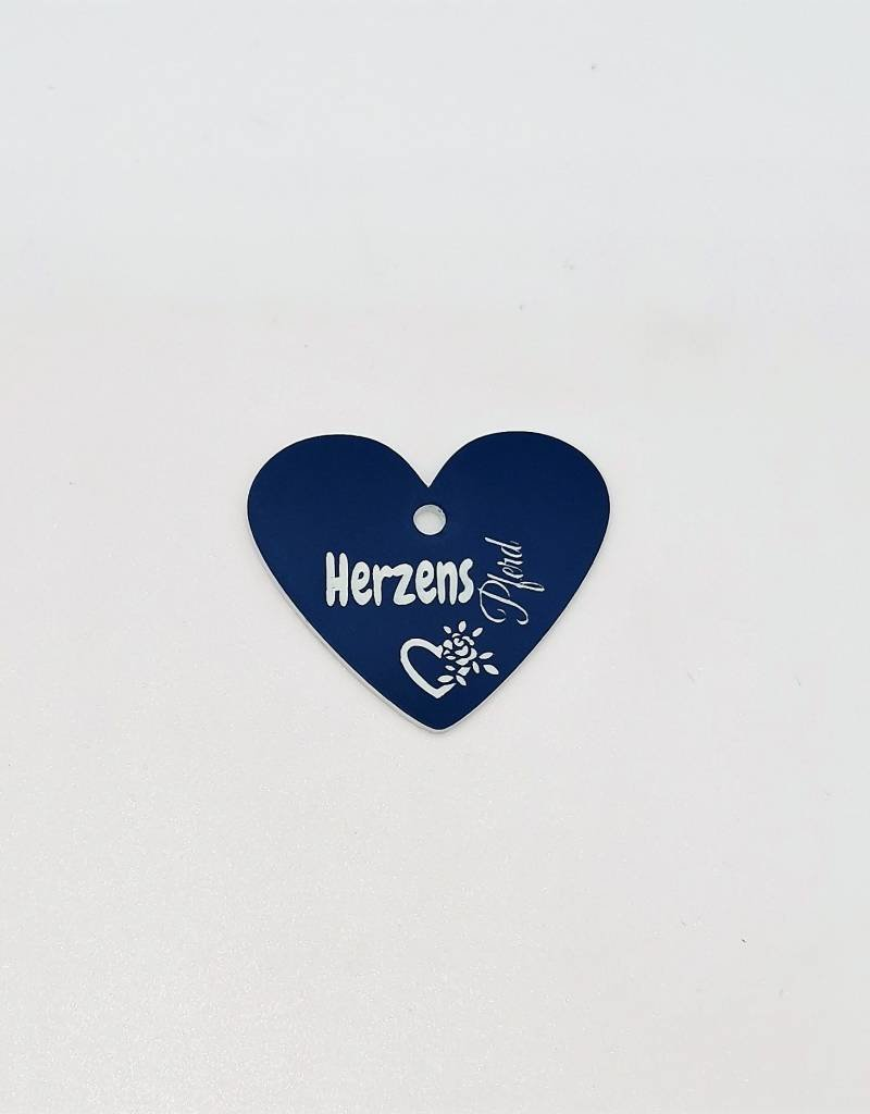 Horse brand of acrylic plastic Blue weatherproof with engraving heart horse