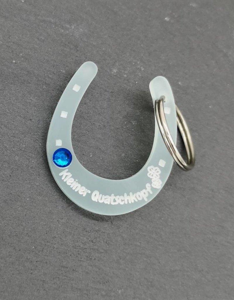 KS Laserdesign Der Hufeisenanhänger aus Acrylglas mit Strassstein!