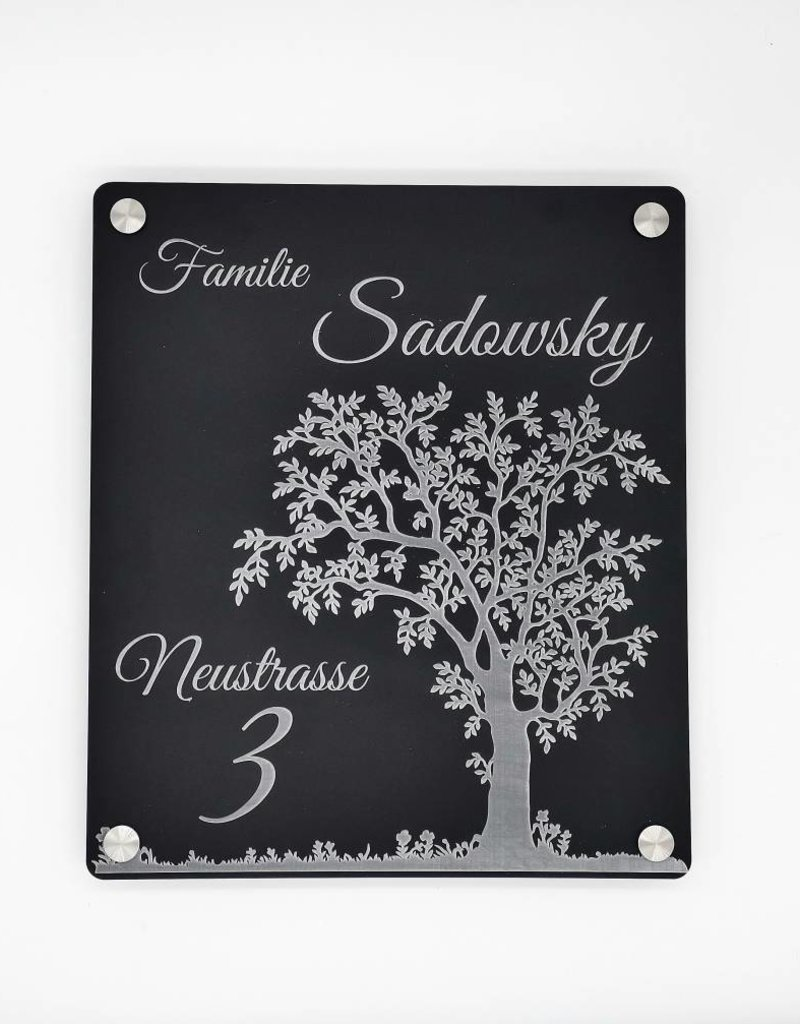 Dein Türschild aus hochwertigem Acrylglas wird dank deiner persönlichen Gravur zum echten Hingucker!
