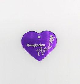 """Pferdemarke  Aluminium Violett """"Honigkuchenpferd"""""""