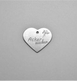 "Pferdemarke  Aluminium Silber ""Ackermacker"""