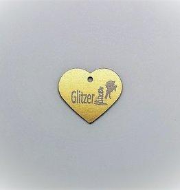 """Pferdemarke """"Glitzer Flitzer""""  Aluminium Gold"""