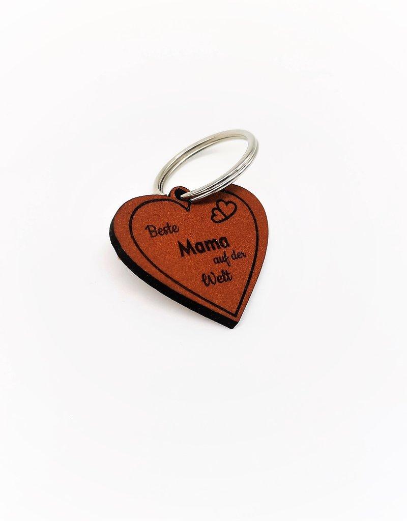 Mache deiner Mama eine Freude mit unserem tollen Schlüsselanhänger aus Leder mit Gravur!